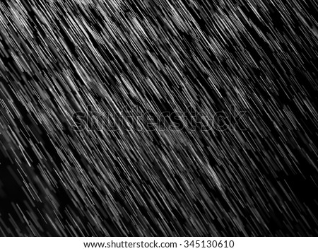 rain on a black background - stock photo