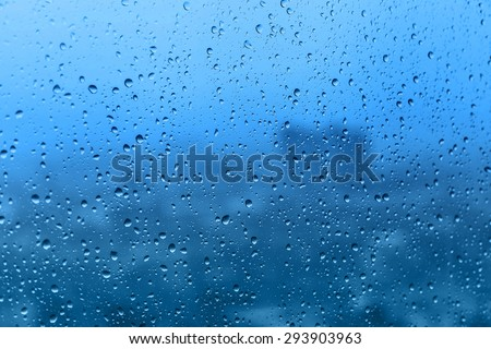 Rain on glass, background texture