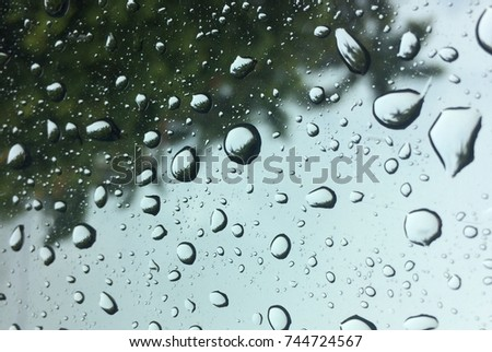 Rain on the mirror