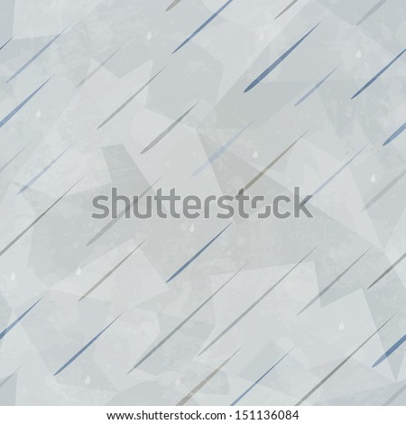 rain seamless pattern with grunge effect (raster version) - stock photo