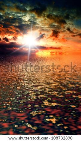 Rain Storm Thunder Bolt - stock photo