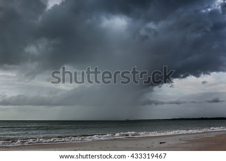 Rain storms are happening at sea,Thailand