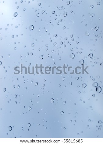 Rain water droplets useful as a background