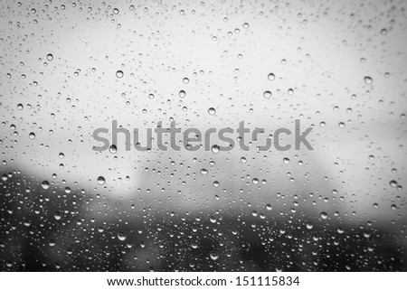 Rain Water drops background - stock photo