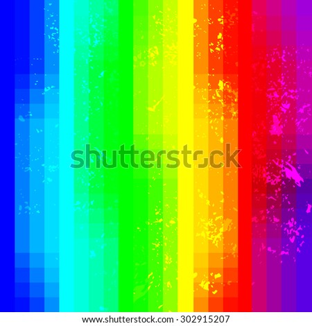 Rainbow abstract squared background with grunge noise