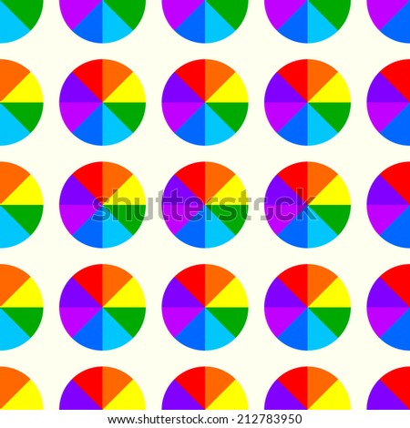 Rainbow circle background. Rainbow circle background.  - stock photo