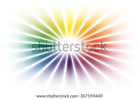 rainbow circle on white background - stock photo