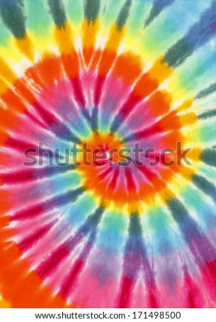 Rainbow Color Spiral Fabric Isolated on White Background.