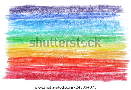 Rainbow colored pencil background