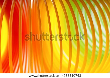 Rainbow colored wire spiral abstract background