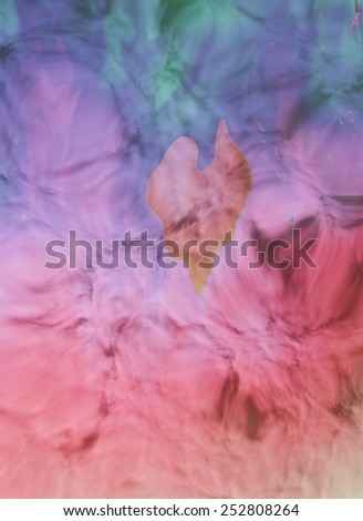 Rainbow colors created by soap, bubble, or oil makes can use background