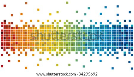rainbow colors pixels
