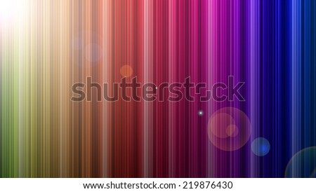 rainbow colors with lens flare  - stock photo