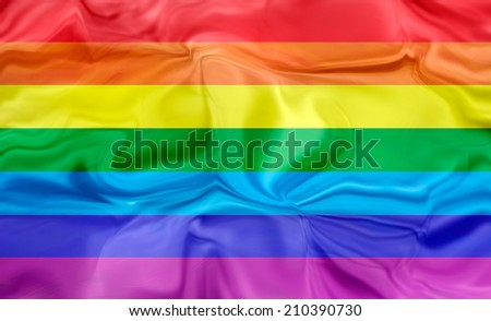 Rainbow Flag, fabric texture