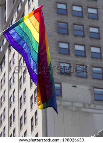 Rainbow Flag for Pride Parade in June