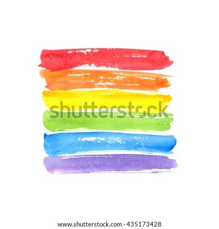 Vector watercolor spectrum Gay Pride