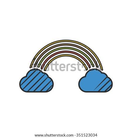 Rainbow icon. Rainbow icon vector. Rainbow icon simple. Rainbow icon app. Rainbow icon web. Rainbow icon logo. Rainbow icon sign. Rainbow icon ui. Rainbow icon flat. Rainbow icon eps.Rainbow icon art. - stock photo