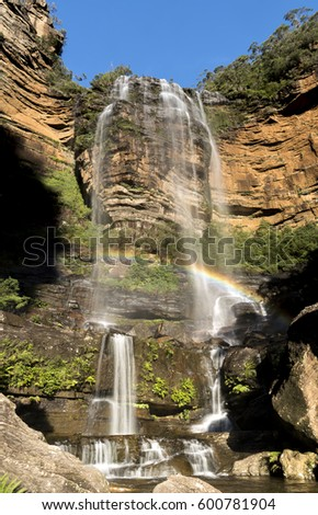 Rainbow in the Mountains, Wentworth falls Australia