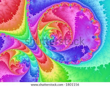 rainbow loop - stock photo