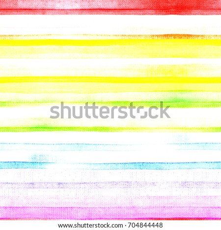 Rainbow, multicolored, cheerful, happy, striped background. Watercolor. Illustration