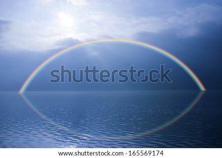 Rainbow sky stock photos illustrations and vector art