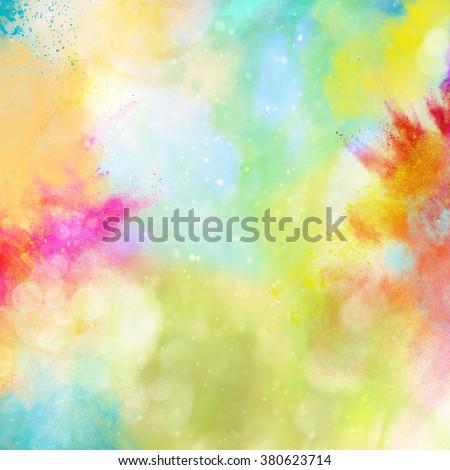 Rainbow powder - stock photo