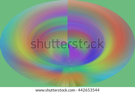 Rainbow psychedelic wave length design patterns oval red yellow green blue orange violet purple oval vivid background backdrop  circle round whirlpool deep  - stock photo