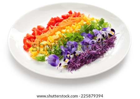 rainbow salad - stock photo