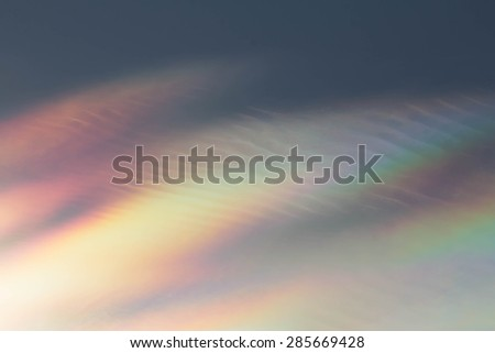 Rainbow Sky  - stock photo