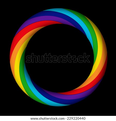 Rainbow Swirl Circle - stock photo
