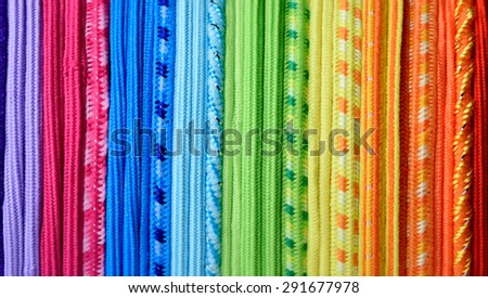 Rainbow thread texture, abstract colorful background