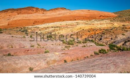 Rainbow Vista, Valley of Fire State Park, Nevada - stock photo