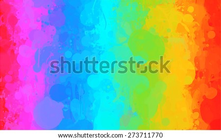 Rainbow watercolor brush strokes background. Raster version