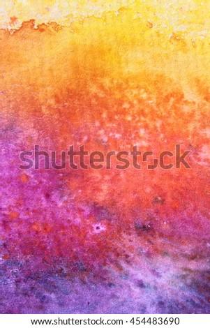 Rainbow Watercolour Background 3 - stock photo