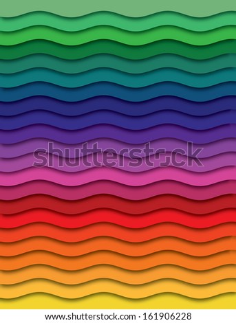 Rainbow waves  - stock photo