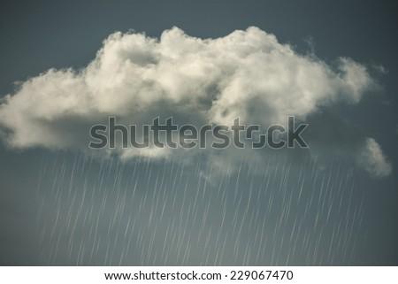 Raincloud - stock photo