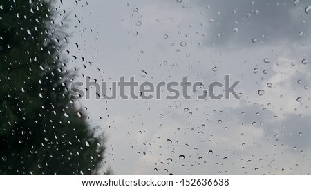 Raindrops and Rainy Day