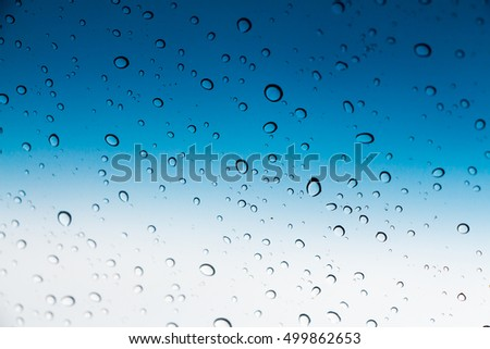Raindrops on car windows abstract background