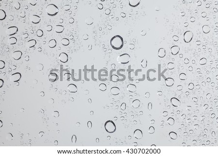 Raindrops on glass.