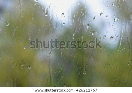 Raindrops on Glass. Background
