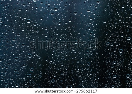 Raindrops on glass. Can be used as background
