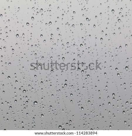 raindrops on window - stock photo
