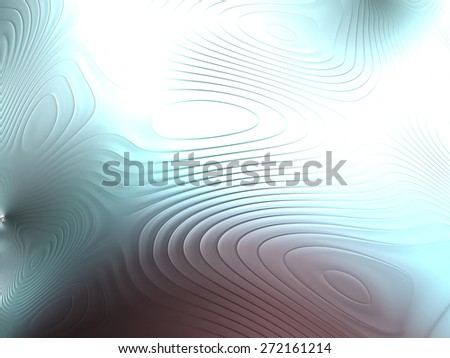 Raining in puddles - light turquoise blue and brown abstract fractal design background  - stock photo