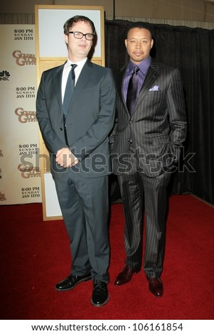Rainn Wilson and Terrence Howard   at the 66th Annual Golden Globe Awards Nomination Announcement Press Conference. Beverly Hilton Hotel, Beverly Hills, CA. 12-11-08