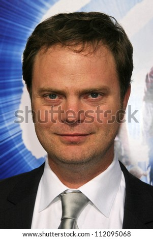 "Rainn Wilson at the Los Angeles Premiere of ""The Last Mimzy"". Mann Village Theatre, Westwood, CA. 03-30-07 - stock photo"