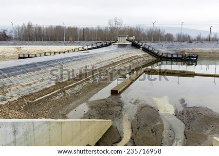 Rainwater treatment plant (RWTP). Environmentally friendly smelter.