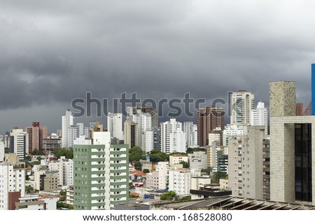 Rainy day in Belo Horizonte city, capital of Minas Gerais state, Brazil,