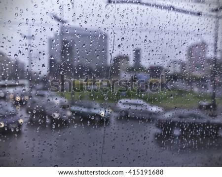 Rainy Day Traffic - stock photo