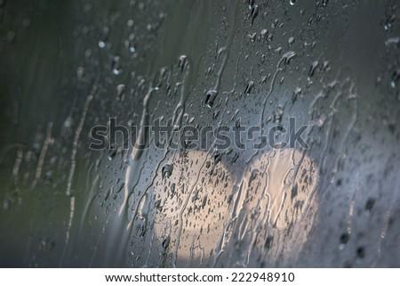 rainy traffic background - stock photo