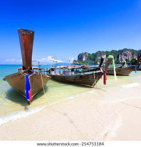 Rairay beach, Krabi Thailand - stock photo